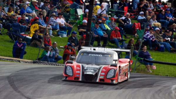 16-17 September, 2011, Lexington, Ohio USA The #77 Ford Riley of Burt Frisselle and Henri Richard races past a group of fans. (c)2011, R.D. Ethan LAT Photo USA
