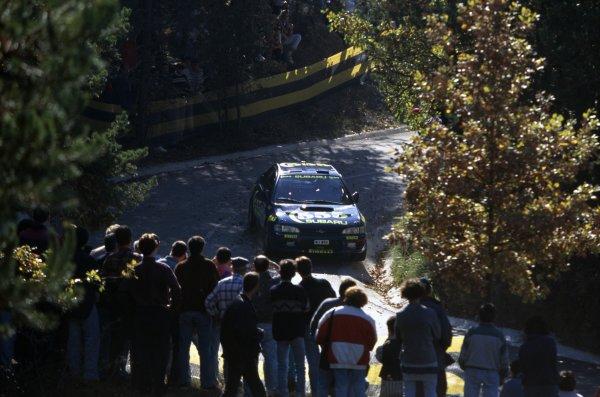 1996 World Rally Championship.Catalunya Rally, Spain. 4-6 November 1996.Colin McRae/Derek Ringer (Subaru Impreza 555), 1st position.World Copyright: LAT PhotographicRef: 35mm transparency 96RALLY08