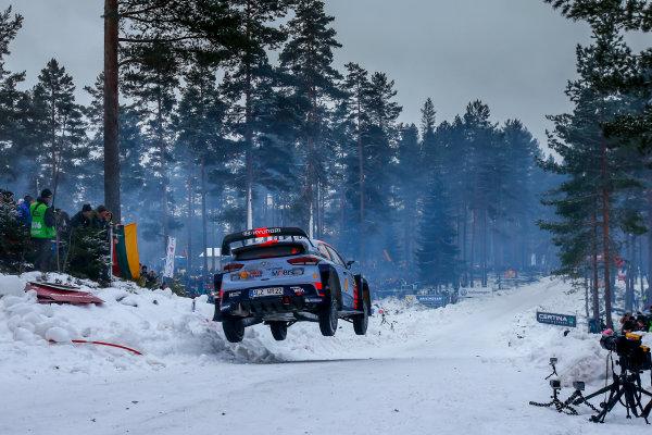 2017 FIA World Rally Championship, Round 02, Rally Sweden, February 09-12, 2017, Thierry Neuville, Hyundai, Action, Worldwide Copyright: McKlein/LAT