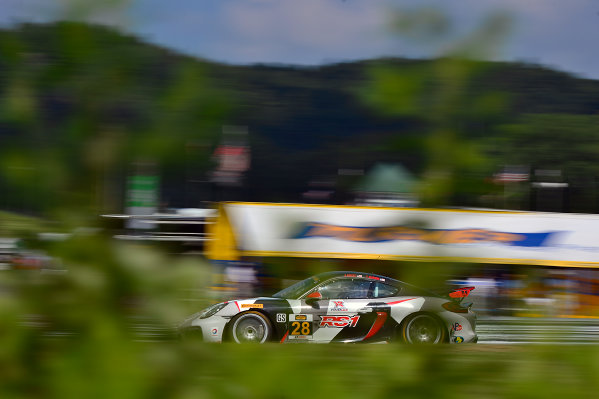 IMSA Continental Tire SportsCar Challenge Lime Rock Park 120 Lime Rock Park, Lakeville, CT USA Friday 21 July 2017 28, Porsche, Porsche Cayman GT4, GS, Dylan Murcott, Dillon Machavern World Copyright: Gavin Baker LAT Images