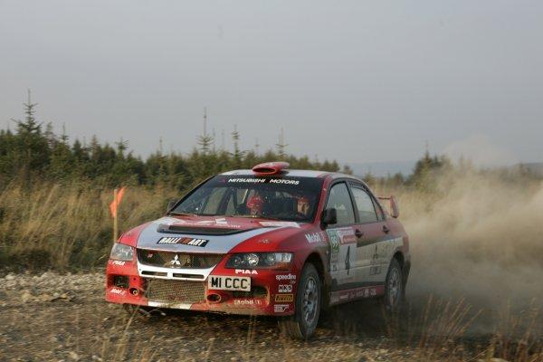 2007 British Rally Championship,Rally Yorkshire, 6th October 2007,Gwyndaf Evans/Huw Lewis Mitsubishi Evo,World Copyright: Ebrey/LAT Photographic.