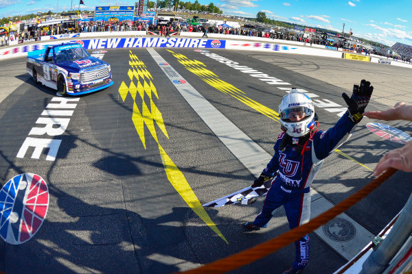 23-24 September, 2016, Loudon, New Hampshire USA William Byron celebrates after winning, Sunoco ?2016, Logan Whitton  LAT Photo USA