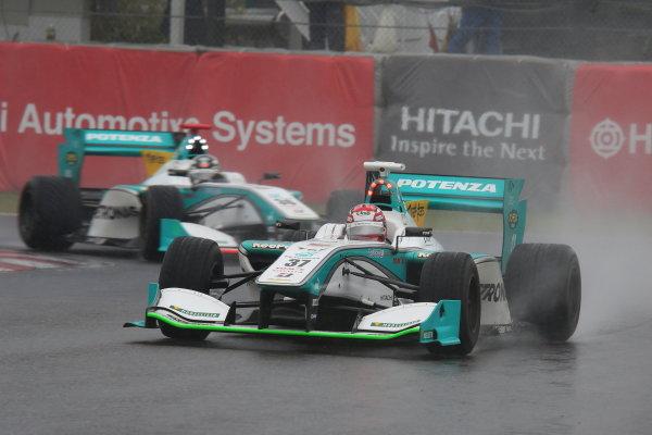 2014 Super Formula Series. Suzuka, Japan. 9th - 10th November 2014. Rd 7. Race 1 - 2nd position Kazuki Nakajima ( #37 TEAM TOM'S SF14 ) action World Copyright: Yasushi Ishihara / LAT Photographic. Ref:  2014_SF_Rd7_008.JPG