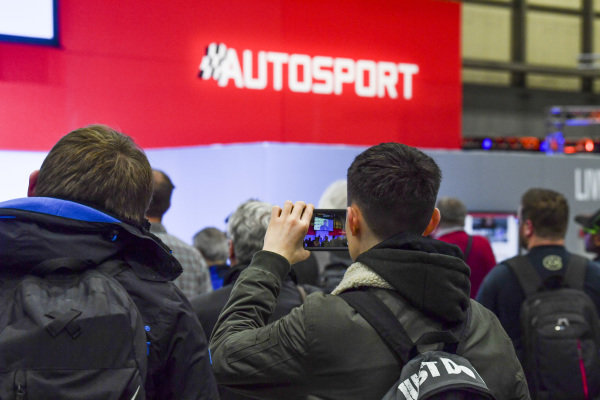 Visitors at the Autosport Stage