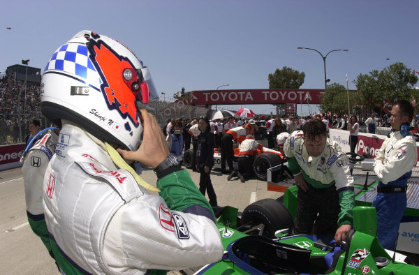 2001 CART Toyota Grand Prix of Long Beach, 6-8 April, 2001, Streets of Long Beach, CA, USAShinji Nakano prepares to race.-2001, Michael L. Levitt, USALAT Photographic