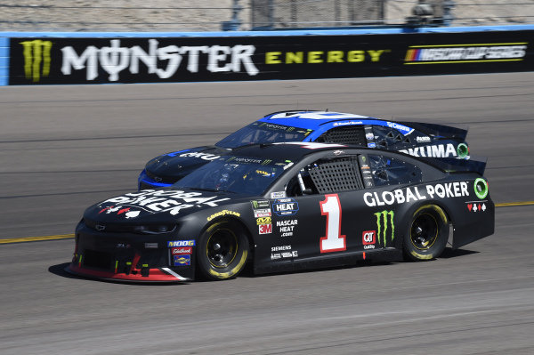 #1: Kurt Busch, Chip Ganassi Racing, Chevrolet Camaro Global Poker, #8: Daniel Hemric, Richard Childress Racing, Chevrolet Okuma
