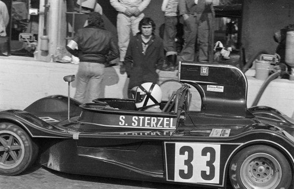 "Stanislao Sterzel / ""Gimax"", March 75S BMW exits the pit lane."
