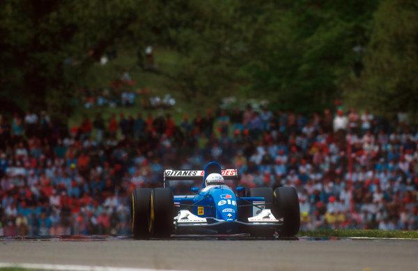 1993 San Marino Grand Prix.Imola, Italy.23-25 April 1993.Martin Brundle (Ligier JS39 Renault) 3rd position.Ref-93 SM 13.World Copyright - LAT Photographic