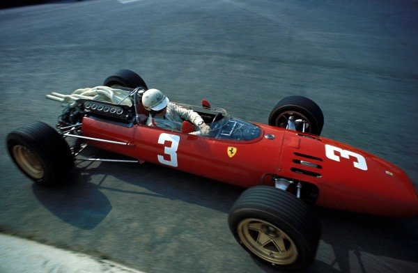 Mike Parkes (GBR) Ferrari 312, had an accident on lap 1.