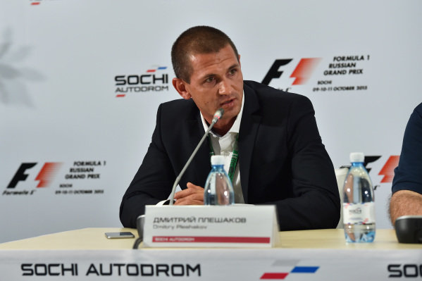 Dmitry Pleshalov (RUS) Russian Automobile Ferderation Representative and and Head of Sochi Autodrom Department of NPJSC at Formula One World Championship, Rd15, Russian Grand Prix, Practice, Sochi Autodrom, Sochi, Krasnodar Krai, Russia, Friday 9 October 2015.