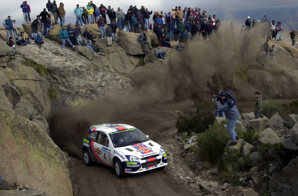 2001 World Rally Championship. ArgentinaMay 3rd-6th, 2001Colin McRae on stage 20.Photo: Ralph Hardwick/LAT