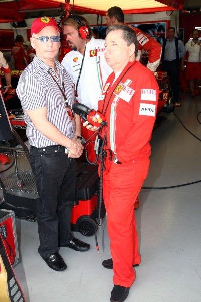 David Robertson (GBR) Manager of Kimi Raikkonen (FIN) Ferrari with Jean Todt (FRA) Ferrari Sporting Director. Formula One World Championship, Rd17, Brazilian Grand Prix, Race Day, Interlagos, Sao Paulo, Brazil, Sunday 21 October 2007.