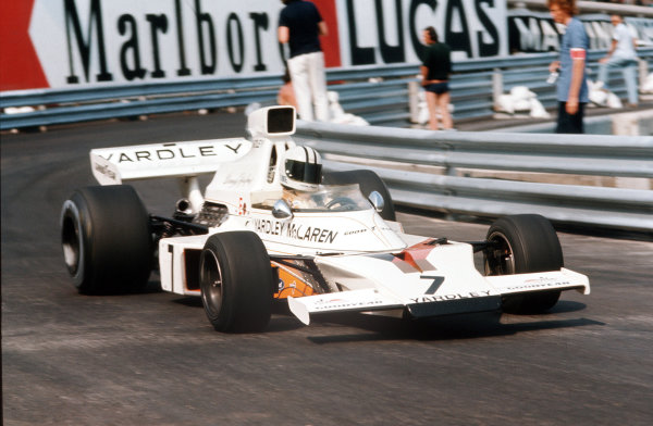 Monte Carlo, Monaco.31/5-3/6 1973.  Denny Hulme (McLaren M23 Ford) 6th position.  World Copyright - LAT Photographic