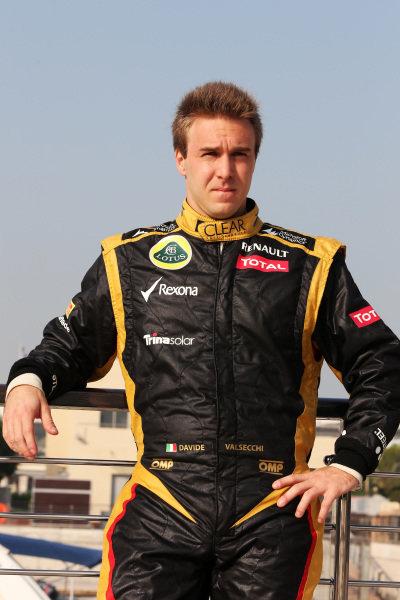 Davide Valsecchi (ITA) Lotus F1 Team. Formula One Young Drivers Test, Day Three, Yas Marina Circuit, Abu Dhabi, UAE, Thursday 8 November 2012.
