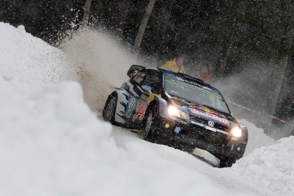 Sebastien Ogier (FRA) / Julien Ingrassia (FRA), Volkswagen Polo R WRC at World Rally Championship, Rd2, Rally Sweden, Day One, Karlstad, Sweden, 13 February 2015.