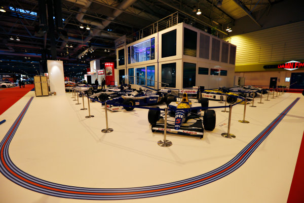 Autosport International Exhibition.  National Exhibition Centre, Birmingham, UK. Thursday 14 January 2016.  The Williams Motorhome in the NEC. World Copyright: Zak Mauger/LAT Photographic. ref: Digital Image _L0U0731