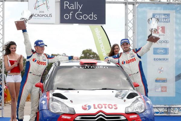 2013 World Rally Championship Acropolis Rally of Greece May 31 - June 2, 2013 Robert Kubica, Citroen, podium Worldwide Copyright: McKlein/LAT