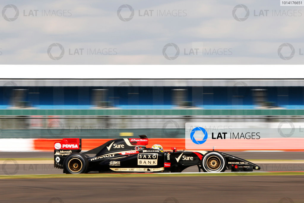 Silverstone, Northamptonshire, England. Wednesday 9 July 2014. Charles Pic, Lotus E22 Renault.  World Copyright: Zak Mauger/LAT Photographic. ref: Digital Image _L0U7921