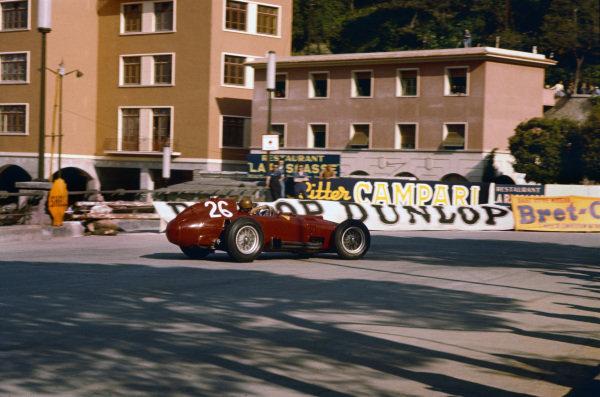 Monte Carlo, Monaco. 16-19 May 1957. Peter Collins (Lancia-Ferrari D50 801). Ref-57 MON 15. World Copyright - LAT Photographic