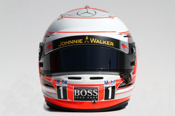 Albert Park, Melbourne, Australia. Thursday 13 March 2014. The helmet of Kevin Magnussen (DEN) McLaren. World Copyright: xpb Images/LAT Photographic. ref: Digital Image 2014helmets02