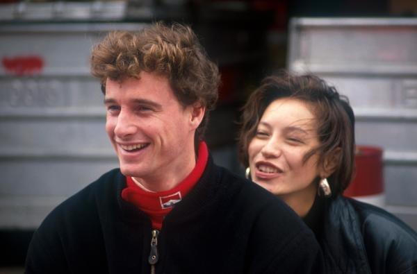 Eddie Irvine (GBR) (left) with friend. Macau Grand Prix, Macau, Hong Kong, November 1989.