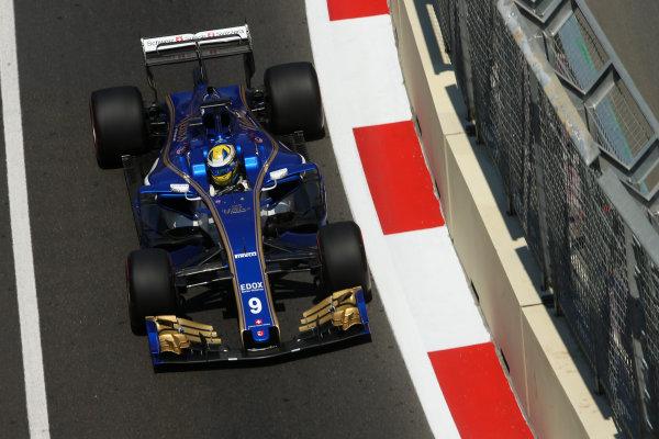 Baku City Circuit, Baku, Azerbaijan. Friday 23 June 2017. Marcus Ericsson, Sauber C36 Ferrari. World Copyright: Charles Coates/LAT Images ref: Digital Image DJ5R2633
