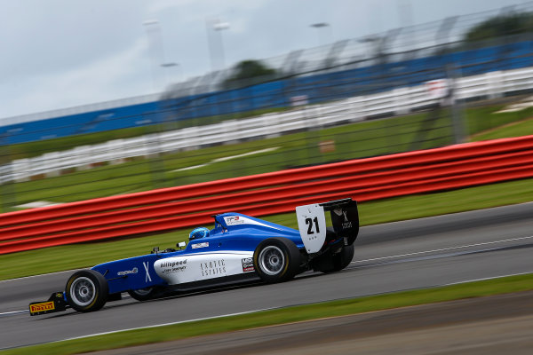 2017 BRDC British Formula 3 Championship,  Silverstone, 11th-12th June 2017, Chase Owen (USA) Hillspeed with Cliff Dempsey Racing BRDC F3. World copyright. JEP/LAT Images