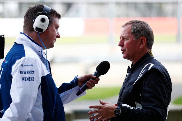 Williams 40 Event Silverstone, Northants, UK Friday 2 June 2017. David Croft interviews Martin Brundle. World Copyright: Sam Bloxham/LAT Images ref: Digital Image _J6I6407