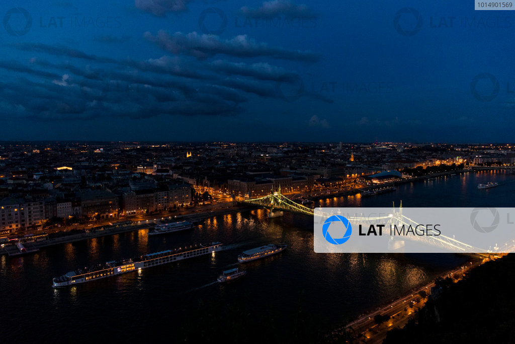 Hungaroring, Budapest, Hungary. Monday 5 June 2017. A view of the city at night. World Copyright: Zak Mauger/LAT Images ref: Digital Image _56I0588