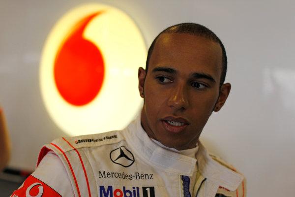 Yas Marina Circuit, Abu Dhabi, United Arab Emirates13th November 2010.Lewis Hamilton, McLaren MP4-25 Mercedes. Portrait. World Copyright:Steven Tee/LAT Photographic ref: Digital Image _A8C6789