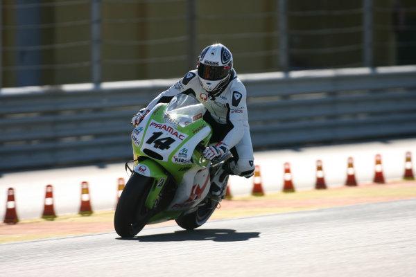 Valencia Test Nov 09-10Randy de Puniet Pramac Racing Ducati