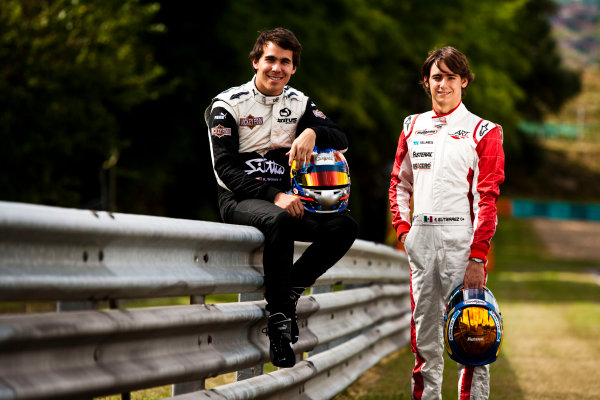 Round 6.Hungaroring, Budapest, Hungary. 29th July 2010. Thursday Preview.Robert Wickens, (CAN, Status Grand Prix) and Esteban Gutierrez, (MEX, ART Grand Prix) winners of races 9 and 10 in the GP3 series at Hockenheim. Portrait. World Copyright: Drew Gibson/GP3 Media Service. Digital Image _Y2Z0909