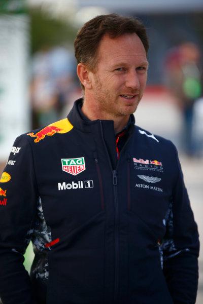 Sochi Autodrom, Sochi, Russia. Friday 28 April 2017. Christian Horner, Team Principal, Red Bull Racing. World Copyright: Andy Hone/LAT Images ref: Digital Image _ONZ9002