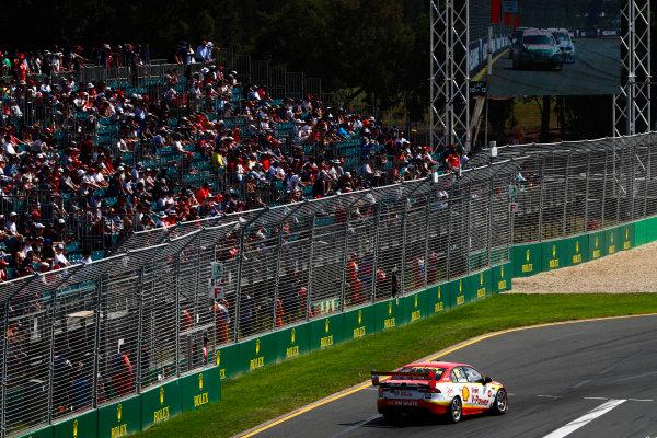 Australian Supercars Series Albert Park, Melbourne, Australia. Sunday 26 March 2017. Race 4. Fabian Coulthard, No.12 Ford Falcon FG-X, Shell V-Power Racing Team.  World Copyright: Zak Mauger/LAT Images ref: Digital Image _56I0272
