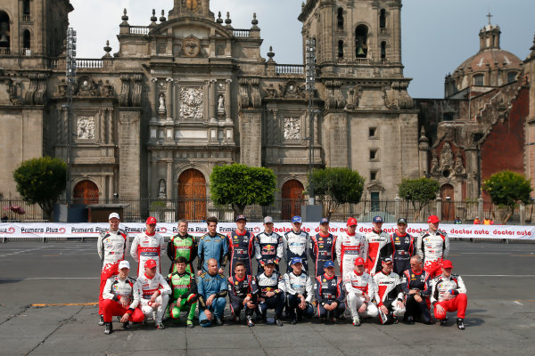2017 FIA World Rally Championship, Round 03 , Rally Mexico, February 08-12, 2017, Drivers Group Photo, Mexico City, Atmosphere. Worldwide Copyright: McKlein/LAT