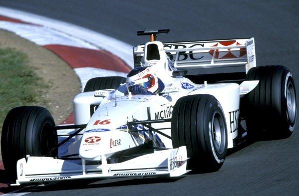 Rubens Barrichello (BRA), Stewart Ford SF3, finished third. European Grand Prix, Rd14, Nurburgring, Germany, 26 September 1999.