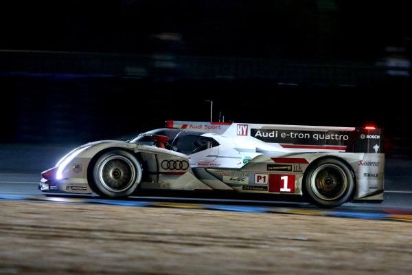 Andre Lotterer (GER) / Marcel Fassler (SUI) / Benoit Treluyer (FRA) Audi Sport Team Joest Audi R18 E-Tron Quattro. Le Mans 24 Hours, Le Mans, France, 20-23 June 2013.