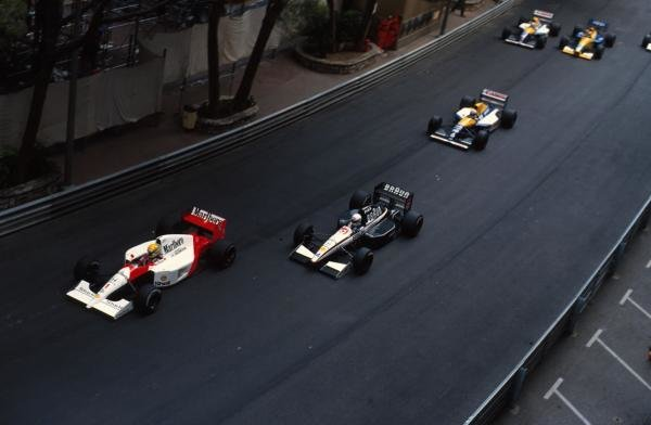 Ayrton Senna (BRA) McLaren MP4/6 led from  start to finish. Monaco Grand Prix, Monte-Carlo, 12 May 1991.