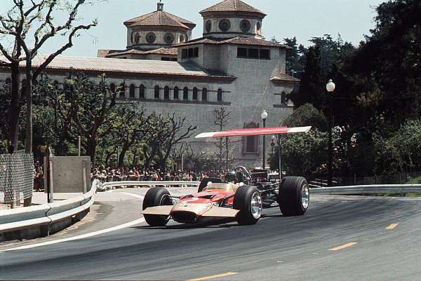 Monjuich Park, Barcelona, Spain.2-4 May 1969.Jochen Rindt (Lotus 49B Ford).Ref-35mm 69 ESP 18.World Copyright - LAT Photographic