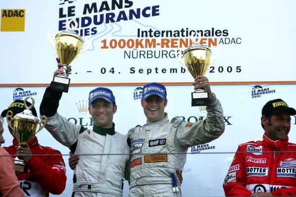 2005 LeMans Endurance Series,Nurburgring, Germany. 4th September 2005. Robert Bell(GB)/Darren Turner(GB), Aston Martin,World Copyright: Jakob Ebrey/LAT Photographic.