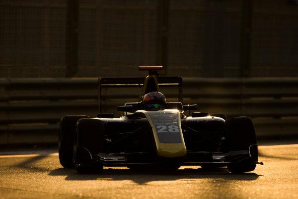 2016 GP3 Series Test 5. Yas Marina Circuit, Abu Dhabi, United Arab Emirates. Thursday 1 December 2016. Tarun Reddy (IND, DAMS)  Photo: Sam Bloxham/GP3 Series Media Service. ref: Digital Image _SLB3389