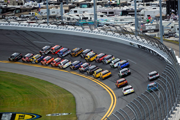 20-21 February, 2015, Daytona Beach, Florida USA Kyle Busch, Monster Energy Toyota Camry leads. ?2015, F. Peirce Williams LAT Photo USA