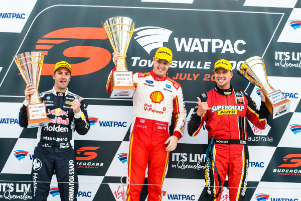 Jamie Whincup, Triple Eight Race Engineering Holden, Scott McLaughlin, DJR Team Penske Ford, Chaz Mostert, Tickford Racing Ford