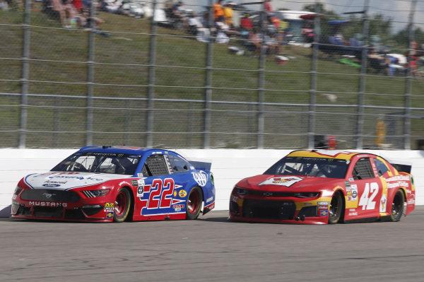 #22: Joey Logano, Team Penske, Ford Mustang AAA Insurance #42: Kyle Larson, Chip Ganassi Racing, Chevrolet Camaro McDonald's