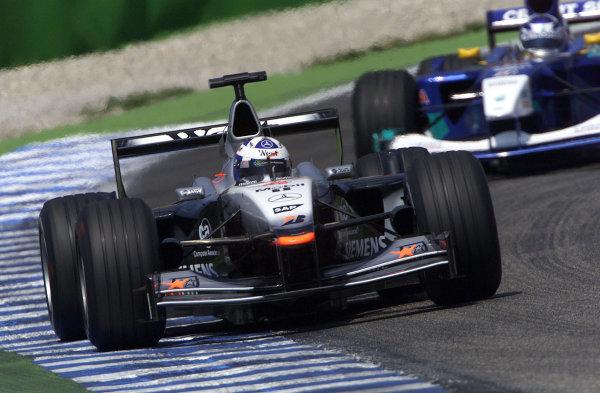 2001 German Grand Prix - PracticeHockenheim, Germany. 27th July 2001.David Coulthard, West McLaren Mercedes MP4/16, action.World Copyright: Steve Etherington/LAT Photographic.ref: 16mb Digital Image