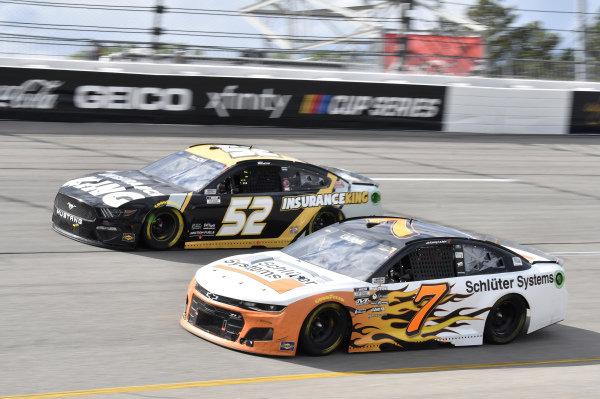 #7: Corey LaJoie, Spire Motorsports, Chevrolet Camaro Schluter Systems, #52: Josh Bilicki, Rick Ware Racing, Ford Mustang