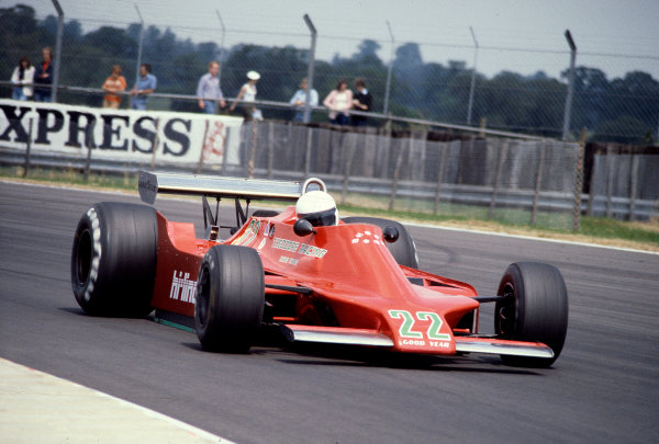 1979 British Grand Prix.Silverstone, England.12-14 July 1979.Patrick Gaillard (Ensign N179 Ford) 13th position on his Grand Prix debut.Ref-79 GB 20.World Copyright - LAT Photographic