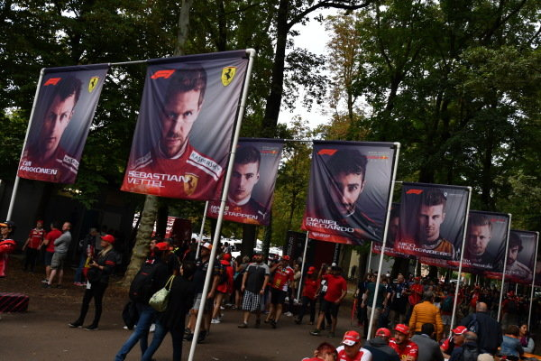 Flags of the drivers