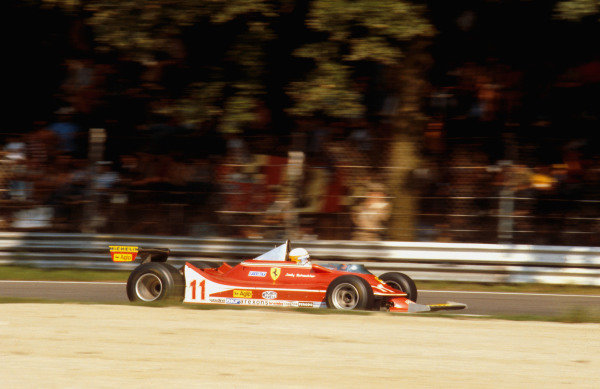 1979 Italian Grand Prix.Monza, Italy.7-9 September 1979.Jody Scheckter (Ferrari 312T4) 1st position.Ref-79 ITA 08.World Copyright - LAT Photographic