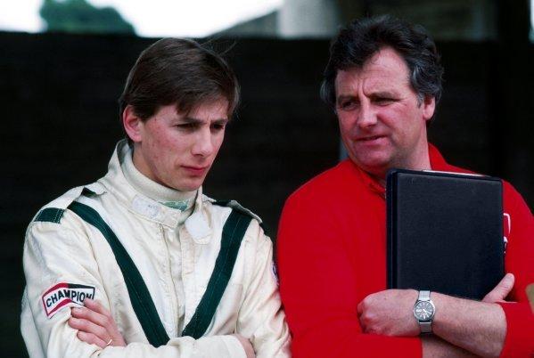 Johnny Dumfries (GBR) March (Left). 1985 European Formula 3000 Championship.